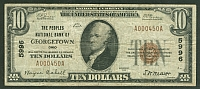 Georgetown, Ohio, 1929T1 $10, Ch.#5996, Peoples National Bank, Fine