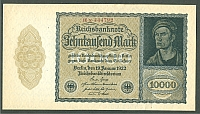 Germany, 10,000 Mark, 19 Jan 1922 Reichsbanknote, K-72, Unc.