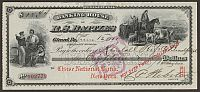 R.S. Battles Banking House, Girard, PA,  (Chase National Bank) Canceled Check