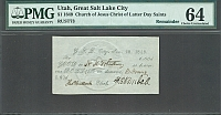 Salt Lake City, Utah, 1849 $1 LDS