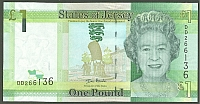 Jersey, P-32a, 2010 States of Jersey One Pound Note, GemCU