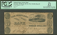 Kirtland, OH, The Kirtland Safety Society Bank $3, March 9, 1837 [Mormon Note]