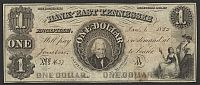 Tennessee, Knoxville, The Bank of East Tennessee, 1855, $1