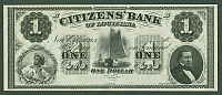 Louisiana, New Orleans,  Citizens' Bank, $1, Gem CU