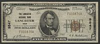 Lancaster, OH, Ch. #9547, Lancaster National Bank, 1929T1 $5, F000870A, VF