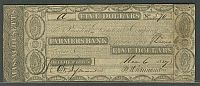 Belchertown, Massachusetts, MA-75; G14a,  November 6, 1827 $5 Farmers Bank, VF, 570