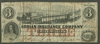 Michigan, Adrian Insurance Company, $3, VF
