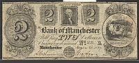 Manchester, MI, 1837 $2 Bank of Manchester, Fine, cc