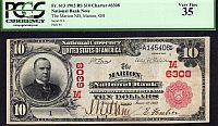 Marion, Ohio, Ch.#6308, Marion NB, 1902 Red Seal $10 Serial Number One, Ch.VF, PCGS-35