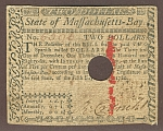 Massachusetts $2, May 5, 1780, VF/XF