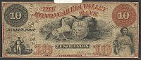 McKee's Port, PA, The Monongahela Valley Bank 1852 $10 Autographed, 1907, F