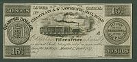Montreal, Lower Canada, 1857 Fifteen Pence note