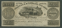 Montreal, Lower Canada, 1857 Half a Dollar note