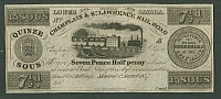 Montreal, Lower Canada, 1857 Seven Pence Half Penny note