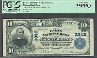 Mount Holly, New Jersey, 1902PB $20, Charter #2343, 1st Title, PCGS-25, PPQ