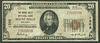 NJ, 1929T1 $20, Ch.#1356, Mt. Holly National Bank, Fine