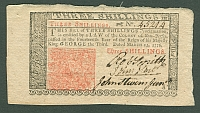 NJ Colonial, 3 Shillings, March 25, 1776 - John Hart Signature, Choice/GemCU