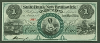 New Brunswick, NJ, State Bank $1, CU