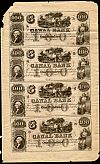 New Orleans, LA Canal Bank $100 Note Sheet, Remainder