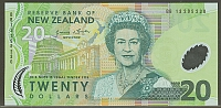 New Zealand, P-187 (New Variety) 2013 $20 (polymer) Note, GemCU