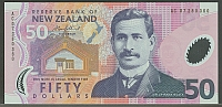 New Zealand, P-188b 2007 $50 (polymer) Note, GemCU