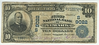 Newark, Arkansas, Ch.#9022, 1902PB $10, 1897, VF