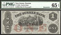 The Sussex Bank of Newton, New Jersey $1