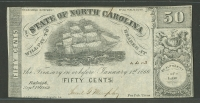 Raleigh, State of North Carolina, 1866 50c