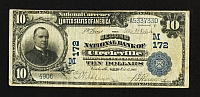Circleville, Ohio, Ch. #172, 2nd NB, 1902PB $10, Choice Fine, 4906