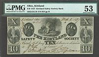 OH245G10, 1837 $10 Kirtland Safety Society Bank, Mormon Signed, 958, PMG-53(200).jpg