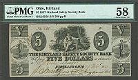 OH245G8, 1837 $5 Kirtland Safety Society Bank, Mormon Signed, 580, PMG-58(200).jpg