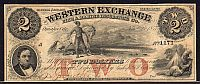 Omaha City, Nebraska 1857 $2, Western Exchange Fire & Marine Insurance Co., SN 1171 Remainder, ChVF