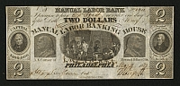 PA, Philadelphia, Manual Labor Banking House, 1837 $2
