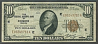 Fr.1860-E, 1929 $10 Federal Reserve Bank Note, Richmond, Very Fine