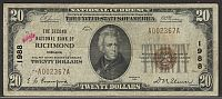 Richmond, IN, Ch.#1988, 1929-T2,  $20