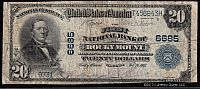 Rocky Mount, VA, The First National Bank, Ch. #6685, 1902PB $20, F/VF