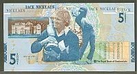 "Scotland, P-365, 2005 Royal Bank of Scotland, 5 Pounds ""Jack Nicklaus"" note, GemCU"