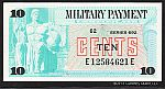 Series 692, 1970-1972 Ten Cent Military Payment Certificate, GemCU
