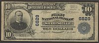 Sharpsville, PA, 1st National Bank, Ch.#6829, 1902PB $10, 9011
