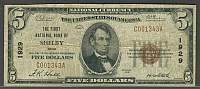 Shelby, OH, Ch.#1929, 1929T1 $5, The 1st NB, C001343A, F