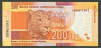 South Africa, P-137 2013 New Variety 200 Rand, GemCU