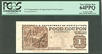 USDA Food Coupon, Series 1996B $1, Very Choice CU, PCGS64-PPQ