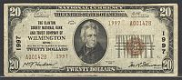 Wilmington, OH Ch.#1997, Clinton County NB&T Co., 1929T2 $20, A001428, VF