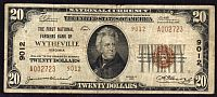 Wytheville, Virginia, Ch.#9012, First National Farmers Bank, 1929T2 $20, VF[20] A002723