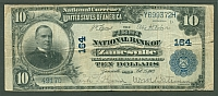 Zanesville, Ohio, Ch.#164 1902PB $10, First National Bank